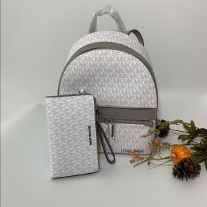 Michael Kors Kenly Medium Backpack and Wallet